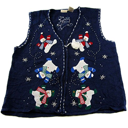Blue - Ugly Christmas Sweater Vest