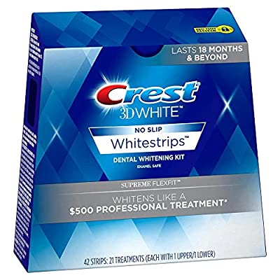 Crest 3D Luxe Whitestrips Supreme Flexfit Teeth Whitening Kit, 28 Count