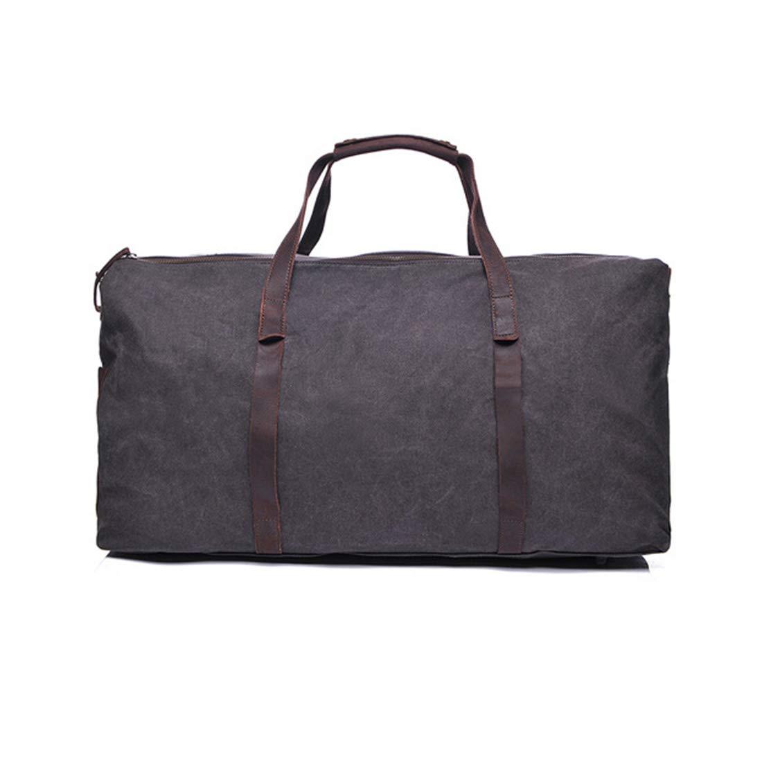 CeSuoLBD キャンバストラベル大容量ハンドバッグシングルショルダークロス多機能荷物袋  ブラック B07RBQWPY3