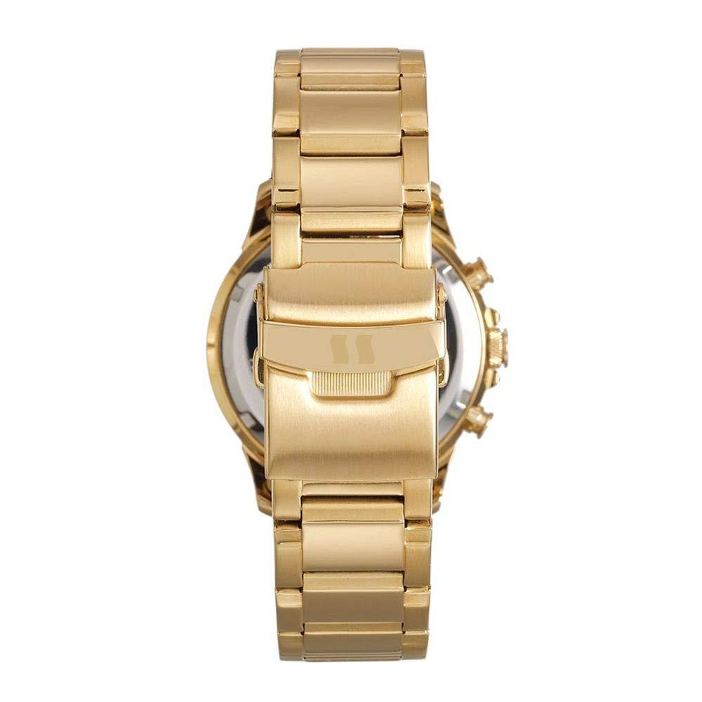 8c6ddd7159b Relógio Masculino Seculus Cronógrafo 13023GPSVDA1 Dourado  Amazon.com.br   Amazon Moda