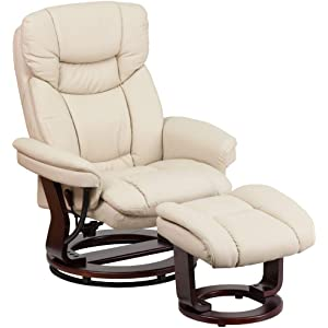 Flash Furniture Recliner Chair And Ottoman Set