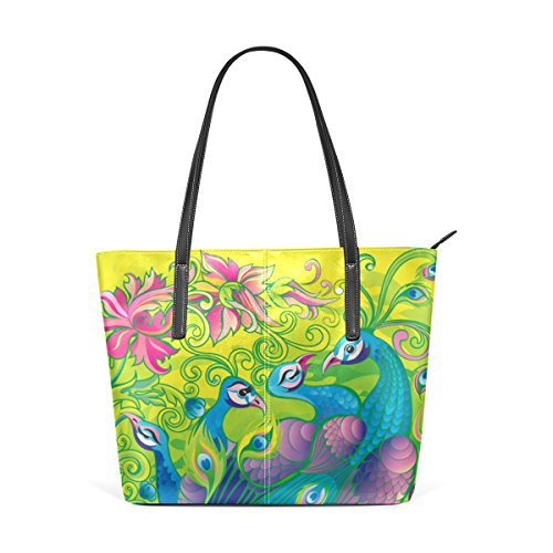 COOSUN Chic Peacock und seine Harem PU Leder Schultertasche Handtasche und Handtaschen Tasche für Frauen