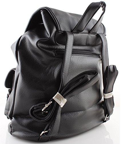Zaino borsa donna nero pelle vegan borsa donna zainetto nuova collezione
