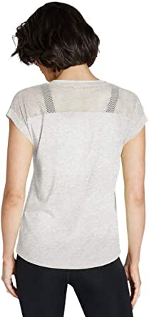 Rockwear Activewear Women's Logo Front Mesh Tee Light Grey Marle 18 from Size 4-18 for T-Shirt Tops