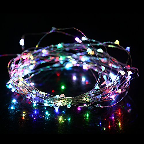 BLACKGIK Colorful Flashing LED String Light 33ft (10m) 100pcs Leds Included With USB Port Connector DC 5V Safety For Touching, For Chritmas Tree House Patio Party Outdoor & Indoor Decoration