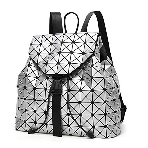 Amazon.com | Geometric Backpack Lingge Laser Backpacks Women Fashion Shoulder Bags Travel College Rucksack Gold | Casual Daypacks