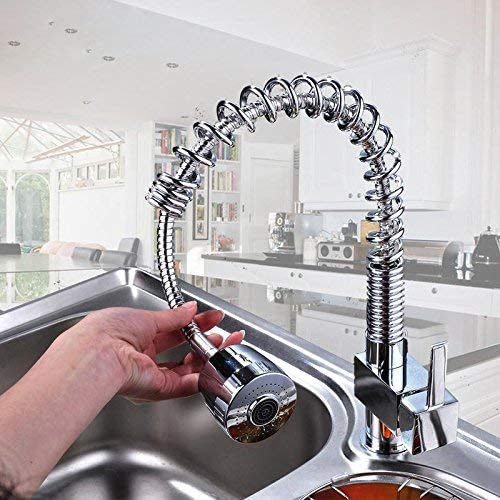 ZGQA-GQA 全銅アメリカの春の小リボルビングキッチン蛇口コールドホットシンク洗面Faucetmodernシンプルな高級品質保証ホームデコレーション ミキサーシンク用の浴室キッチン盆地タップ