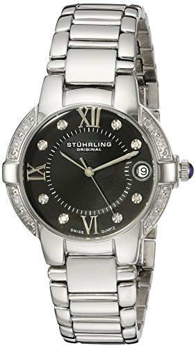 Stuhrling Original Women's 338L.12111 Symphony Regent Countess Elite Quartz Genuine Diamond Watch
