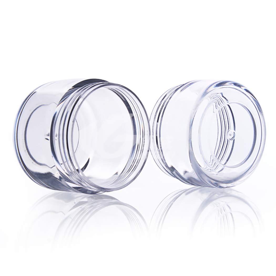 30PCS Portatile di Stoccaggio di Plastica vasi Glitter Glitter Lattine ombretto Sacchetto di Polvere Lozione Metrica Balsamo Crema per Il Viso Sub-imbottigliamento Viaggi Outgeek Scatole di Diamanti