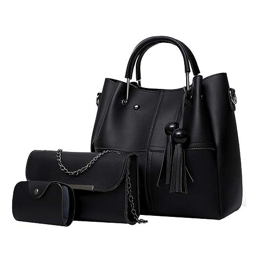 33c5947a3778 Amazon.com: JOYFEEL Women's Casual Pure Color Leather Tassel Hasp ...