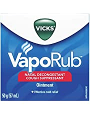 Vicks VapoRub Chest Rub Ointment, 57ml/50g, Cough Suppressant, Relief from Cold, Aches, and Pains