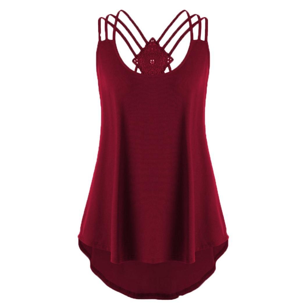 MCYs sommer Größe Größe Frauen Lose Bandage Einfarbig Ärmellos Kreuz Zurück High Low Weste T-Shirt Strappy Tank Tops