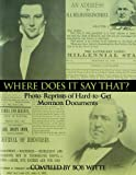 Where does it say that?: A witnessing resource for Christians