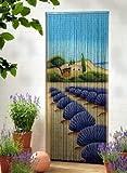 Bamboegordijn, deurgordijn, decogordijn, model Lavendel 90 strengen 90cm x 200cm met ophanglijst