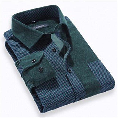 Havadi Shirts Man Shirt 2016 Leisure Clothing Long Sleeved Casual Shirts Man Corduroy Splicing Fashion Shirt Casual Dress Bpj011Xxxl Corduroy Long Sleeved Shirt