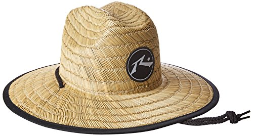 Rusty Men's Boony Straw Lifegaurd Hat, Natural, Medium/Large