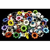 100pcs aluminium Mixed Colors Flowers EYELET Scrapbooking CARD Hole LeatherCraft E099