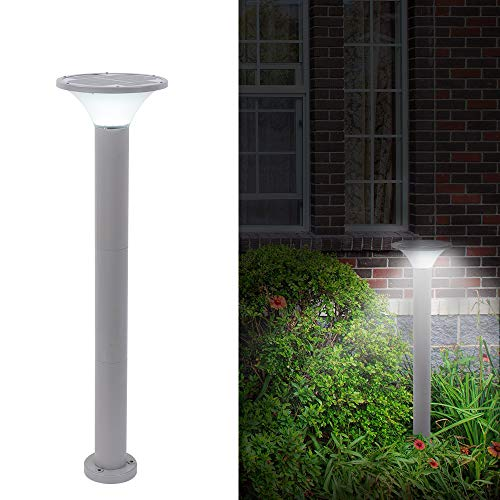 ONLYLUX Solar Pathway Lights Outdoor, 5W Landscape Garden Decoration Path Lighting with Automatic On/Off Sensor, Three Height Adjustable Aluminum Body for Lawn Yard Patio Walkway Driveway