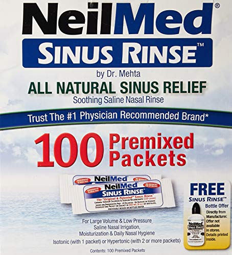 - NeilMed Sinus Rinse All Natural Relief Premixed Refill Packets 100 Each