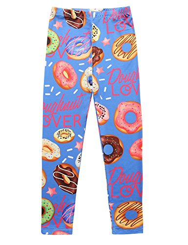 Jxstar Casual Leggings for Girls Back to School Clothing for Fall Winter Comfort Leggings fit Pants Clothes Leggings Doughnut 140