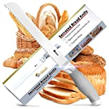 Orblue Serrated Bread Knife, Ultra-Sharp Stainless Steel Bread Cutter (8-Inch Blade with 5-Inch Handle)
