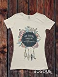 You belong among the Wild Flowers Shirt T-Shirt / Adult T-shirt Top Tee Shirt Flower Feathers design Shirt - Ink Printed