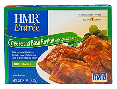 HMR Cheese and Basil Ravioli with Tomato Sauce Entree, 8 oz. servings, 6 count