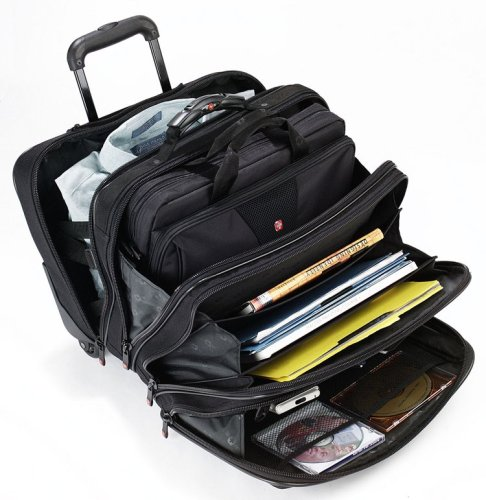 Patriot from Swiss Gear by Wenger Triple Gusset Rolling Computer Case w/Removable Tote by Wenger (Image #5)