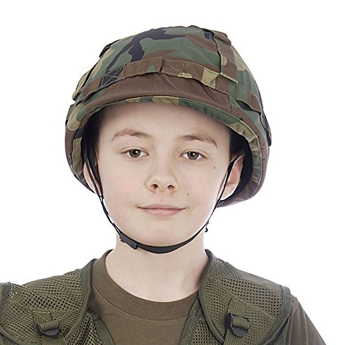 [Camo Kids Helmet With Cover] (Military Hat Costumes)