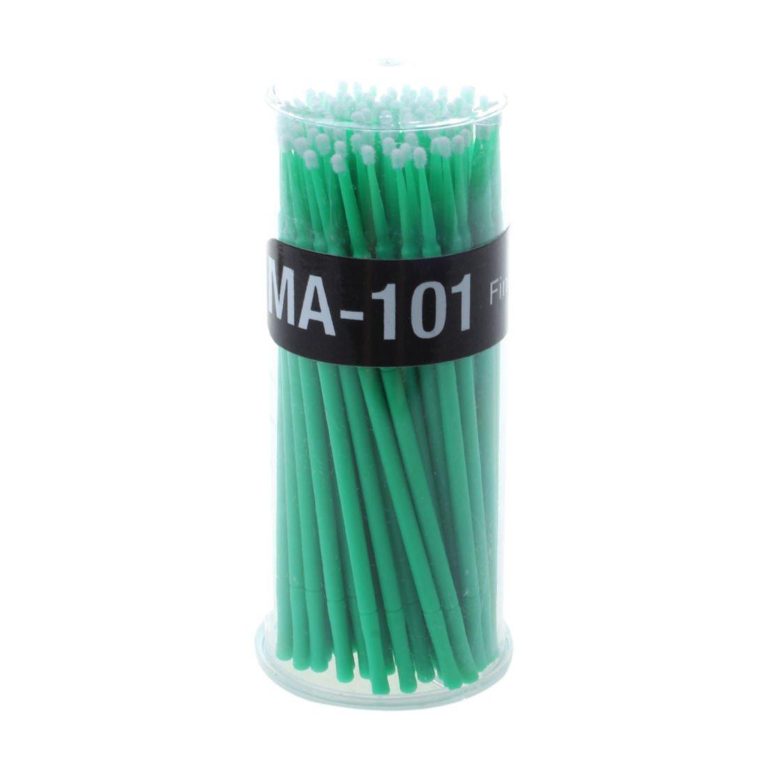 Eyelash Extension Micro Brushes - SODIAL(R)100pcs Eyelash Extension Micro Brushes Disposable Individual Mascara Pro Makeup green