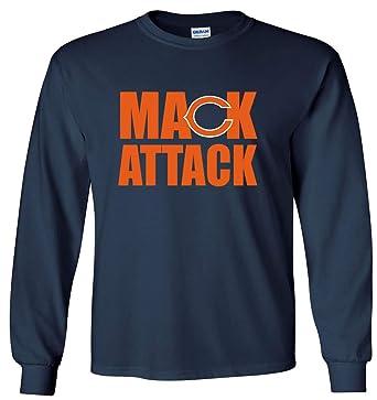 3099aa36a5e Amazon.com: Long Sleeve Navy Chicago Mack Attack T-Shirt: Clothing