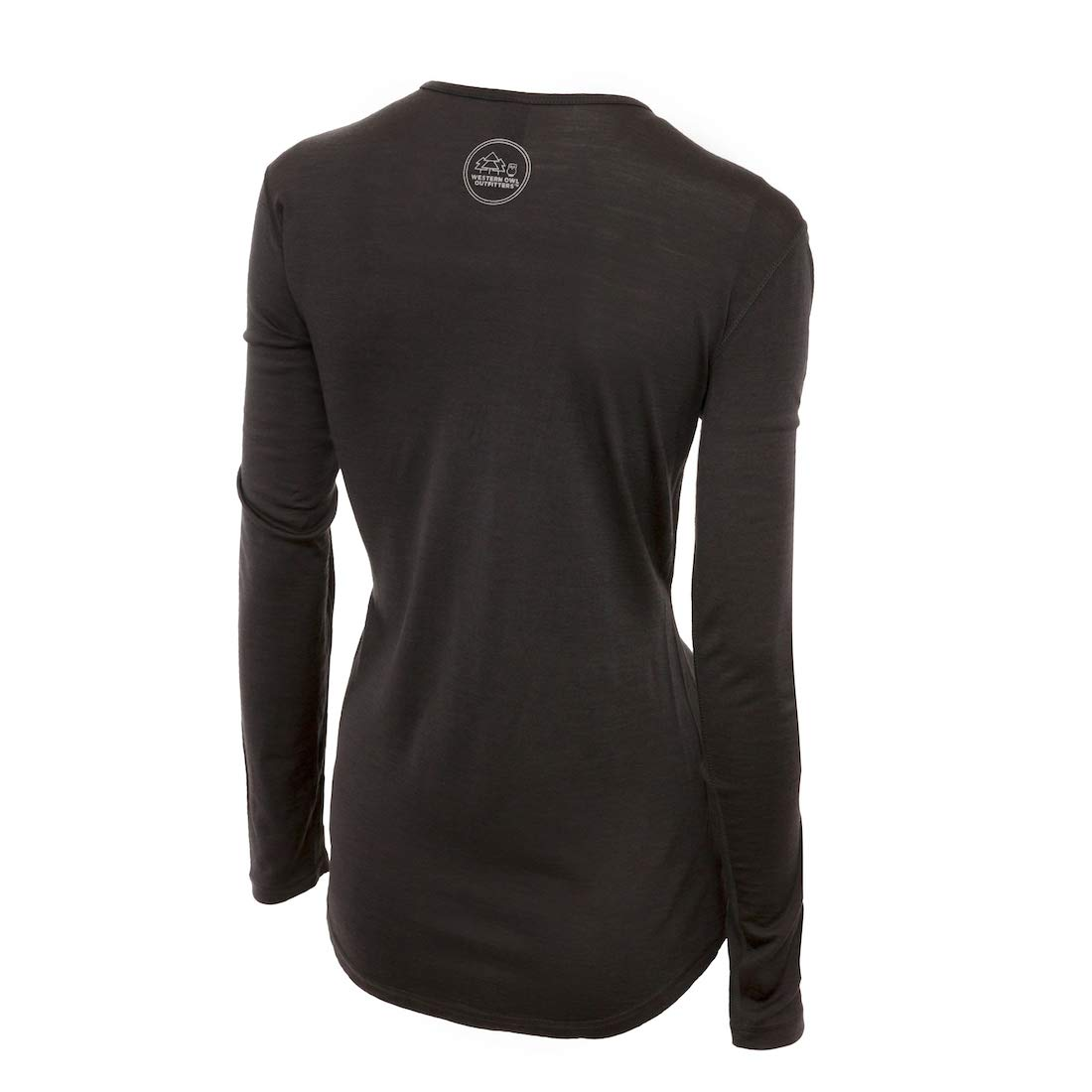 Merino Wool Women's Long Sleeve Top |Crew Neck Shirt | Lightweight | Moisture Wicking | Top Base Layer | Small Grey