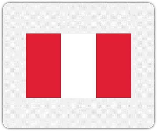 Alfombra de ratón Rectángulo estampado bandera Perú ...
