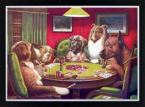 Dogs Playing Poker Poster By C.M. Coolidge Framed Poster (Coolidge Dogs Playing Pool)