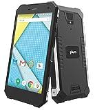 Plum Gator 4 - Rugged Smart Cell Phone Unlocked Android 4G GSM 13 MP Camera 5'' HD Display IP68 Military Grade Water Shock Proof 5000 mAh - Black