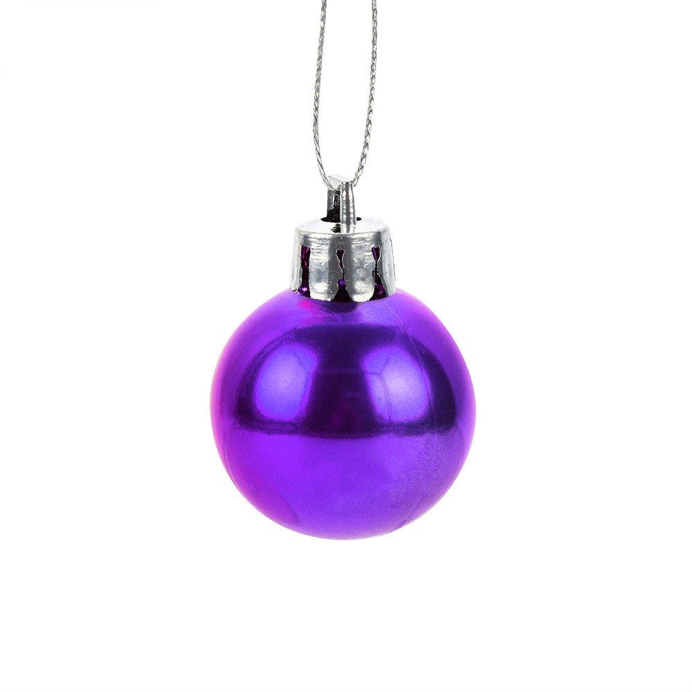 12Pcs 30mm Christmas Balls Ornaments Set Shatterproof Classic Shiny Glitter Matte Baubles Hanging Christmas Decoration Holiday Wedding Party Christmas Tree Pendants (Purple)
