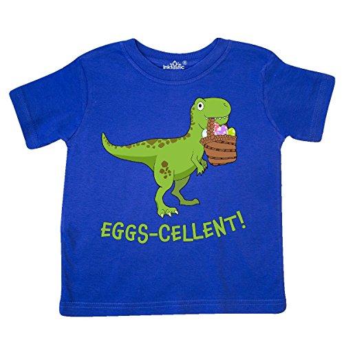 Toddler Easter Basket (inktastic Eggs-cellent Cute Easter T-Rex Dinosaur Toddler T-Shirt 4T Royal)