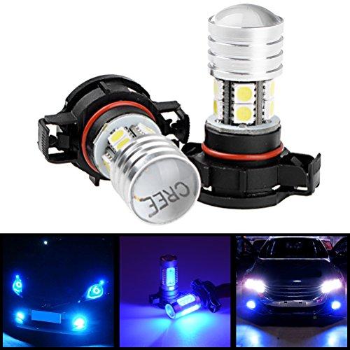 2X Blue H16 2504 PSX24W CREE XP-E Q5 LED DRL Running Lamp Fog Light Bulb For Honda Mazda Mitsubishi Nissan Toyota