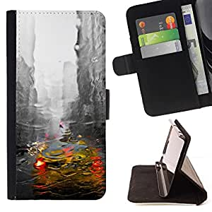 Momo Phone Case / Flip Funda de Cuero Case Cover - New York City Cab lluvia edificios grises - Sony Xperia Z3 Compact