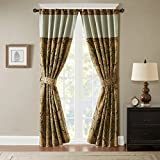 Hampton Hill Rod Pocket Window Curtains For Bedroom, Jaye Solid Spice Red Bedroom Curtains, Polyester Semi-Opaque Casual Curtain Panels For Living Room Family Room Curtains, 54×95, 1-Panel Pack