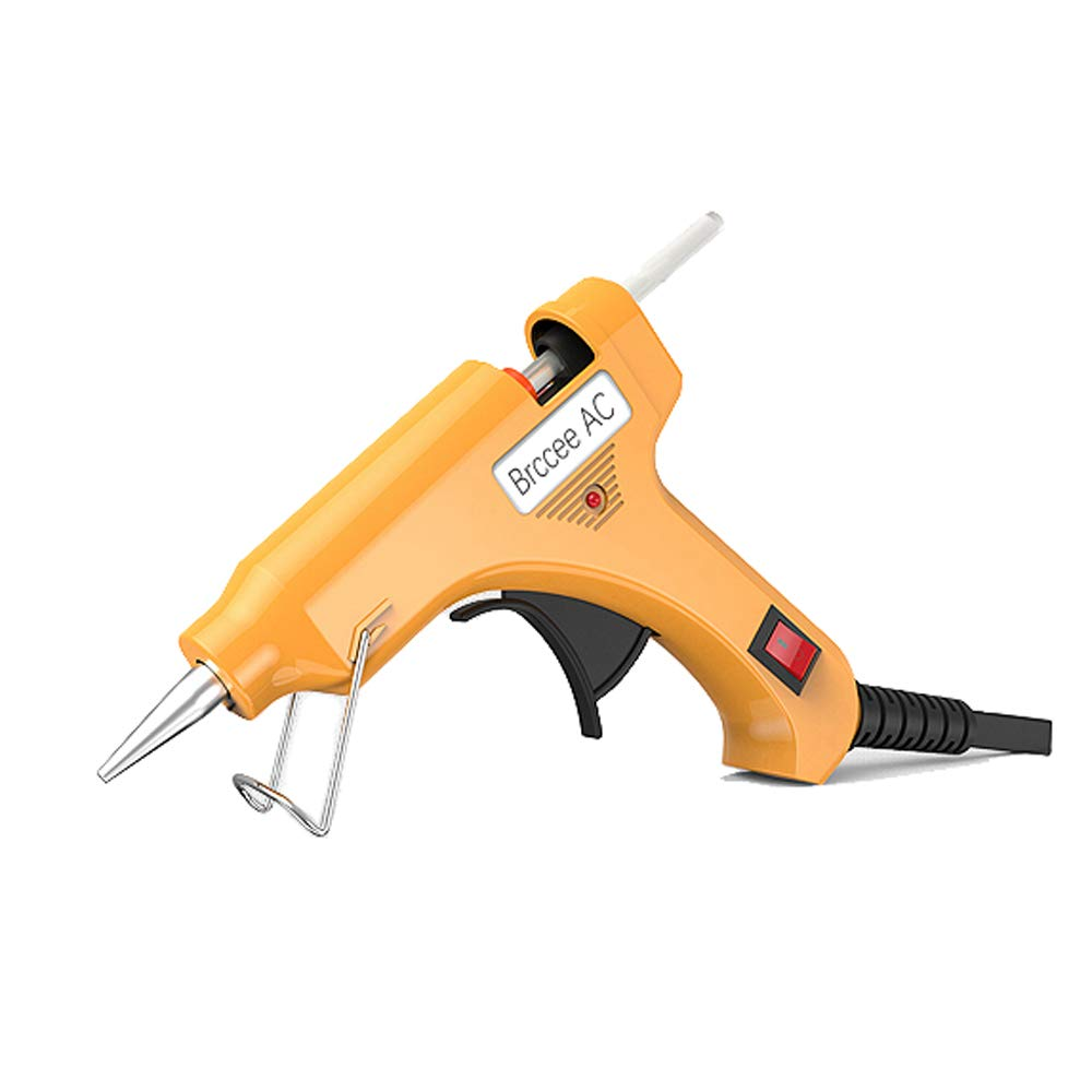 Brccee AC Hot Mini Glue Gun with 35 Pieces Melt Glue Sticks for DIY Arts and Crafts Projects, and Small Repair Jobs, 20 Watt