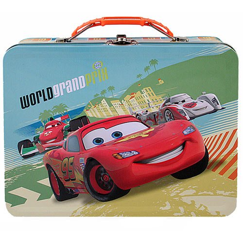 Disney Pixar Cars 2 Tin Lunch Box [World Grand Prix - Green/Yellow]