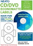 NEATO EconoMatte Blank Printable CD Labels - DVD Labels - 100 Pack - CLP-192217 - Online Design Studio Included