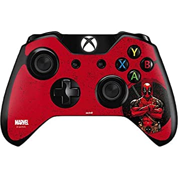 Skinit MERC with A Mouth Xbox One Controller Skin - Officially Licensed Marvel/Disney Gaming Decal - Ultra Thin, Lightweight Vinyl Decal Protection