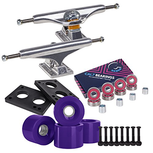 Independent Cal 7 Skateboard Combo, 169 Trucks with ABEC 7 60mm Wheels (Purple)