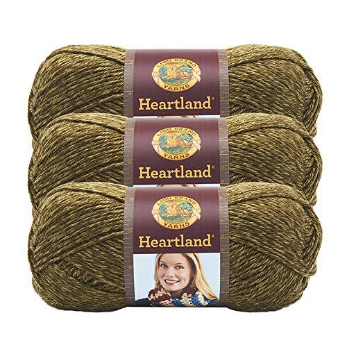 ((3 Pack) Lion Brand Yarn 136-174K Heartland Yarn, Joshua Tree)