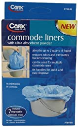 Carex Health Brands Commode Liners, 7 Count (Pack of 6)