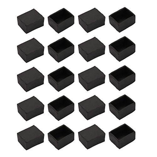 uxcell 20pcs Furniture Desk Chair 30mmx40mm Rectangle Rubber Leg Tip Cap Black by uxcell