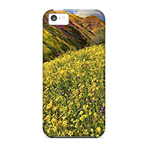 Premium Wonderful Wildflowers Heavy-duty Protection Case For Iphone 5c