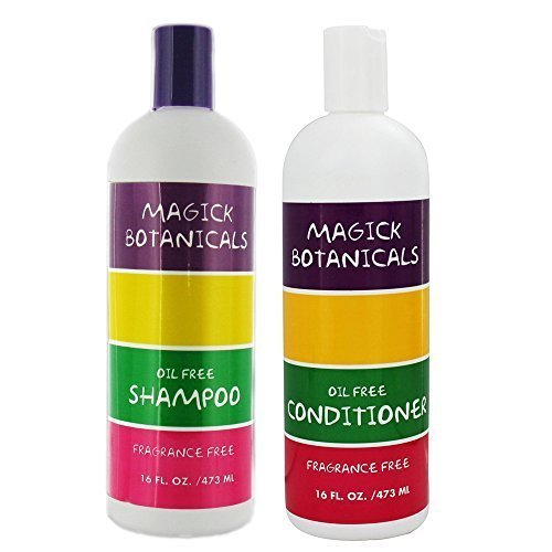 Magick Botanicals Oil Free and Fragrance Free Shampoo & Conditioner Bundle 16 oz ()